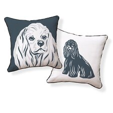 <strong>Naked Decor</strong> Cocker Spaniel Double Sided Cotton Pillow