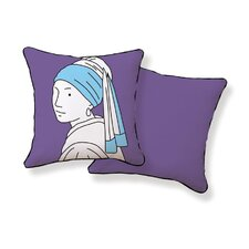<strong>Naked Decor</strong> Girl with Pearl Earring Double Sided Cotton Pillow