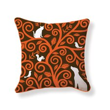 Tree of Animals Double Sided Cotton Pillow