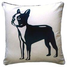 Doggie Style Reversible Boston Terrier Throw Pillow