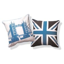 British Invasion Reversible Tower Bridge of London Pillow