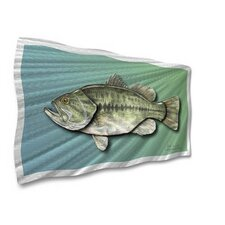 "<strong>All My Walls</strong> Largemouth Bass Contemporary Wall Art - 14"" x 28.5"""