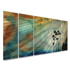 "<strong>All My Walls</strong> Tall Trees In The Sun by Megan Duncanson, Abstract Wall Art - 23.5"" x 52"""