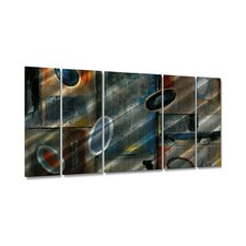 "Subtle Ovals by Ruth Palmer, Abstract Wall Art - 23.5"" x 52"""