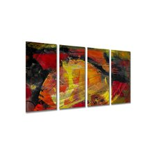 "Ignited by Ruth Palmer, Abstract Wall Art - 23.5"" x 48"""