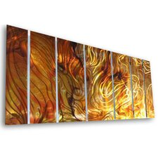"<strong>All My Walls</strong> Abstract by Ash Carl Holographic Wall Art in Orange - 23.5"" x 60"""