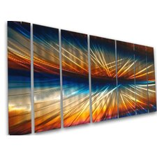 "<strong>All My Walls</strong> Abstract by Ash Carl 3 Dimensional Metal Wall Art in Multi - 23.5"" x 60"""