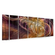 "<strong>All My Walls</strong> Abstract by Ash Carl Metal Wall Art in Orange and Purple - 23.5"" x 60"""