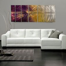 "Abstract by Ash Carl Metal Wall Art in Purple Multi - 23.5"" x 60"""