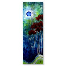 'Tropical Night' by Megan Duncanson Original Painting on Metal Plaque