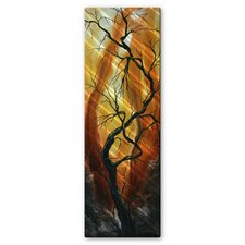 'Towering Trees' by Megan Duncanson Original Painting on Metal Plaque