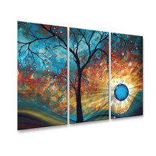 Aqua Burn Metal Wall Hanging