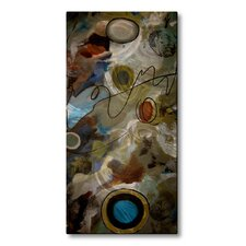 'Tall Tier Texture' by Ruth Palmer Original Painting on Metal Plaque