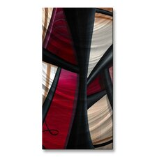 Wow and Red 1 Metal Wall Hanging