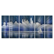 <strong>All My Walls</strong> Philadelphia Skyline Metal Wall Sculpture