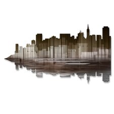 San Francisco Reflection II Metal Wall Art