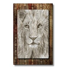 African Lion Metal Wall Decor