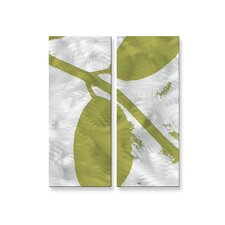 <strong>All My Walls</strong> Sketch Leaves Metal Wall Decor