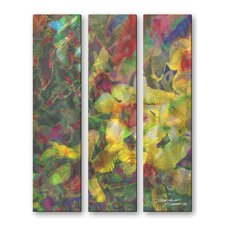 <strong>All My Walls</strong> Caribbean Orchids Metal Wall Hanging