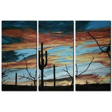 <strong>All My Walls</strong> Sunset with Saguaro III Metal Wall Art