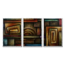 <strong>All My Walls</strong> Abstract Mind Metal Wall Hanging