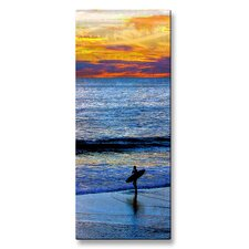 <strong>All My Walls</strong> Sunset Surfing Metal Wall Art