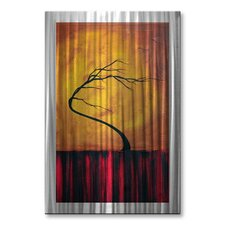 'Wild Winds' by Megan Duncanson Original Painting on Metal Plaque