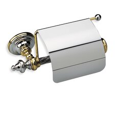 Giunone Wall Mounted Classic Style Toilet Roll Holder with Cover