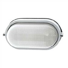 <strong>LBL Lighting</strong> Small Oval Outdoor Bulk Head Wall/Ceiling Mounted Lantern