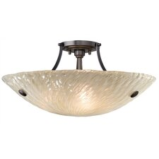<strong>LBL Lighting</strong> Ambra 3 Light Semi Flush Mount