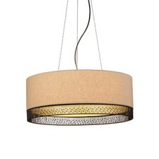 <strong>LBL Lighting</strong> 4 Light Drum Pendant