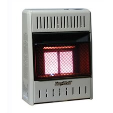 10,000 BTU Infrared Wall Natural Gas or Propane Space Heater with Thermostat