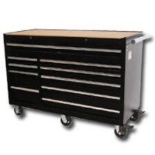 "56"" 10 Drawer Black Tool Cabnet"