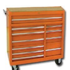 "42"" 11 Drawer Cabinet W/Rb Slides Orange"