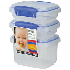 Klip It Baby Food Containers (3 Count)