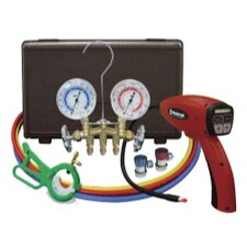 Electronic Leak Detector with Brass Gauge Set