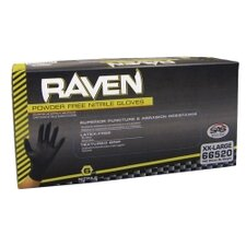 <strong>SAS Safety</strong> Xl Raven Blk Pwdr Free Nitrile Gloves