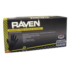 <strong>SAS Safety</strong> Lg Raven Blk Pwdr Free Nitrile Gloves