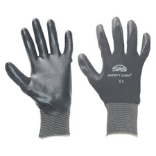 Gloves Nitrile Coated Xlg Black 1Pr