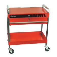 "18.27"" Wide Service Cart with Locking Top Drawer Top Combo"