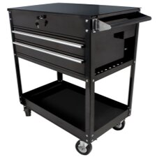 Black 2 Drawer Service Cart