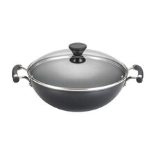 "Acclaim 12.5"" Non-Stick Hard-Anodized Wok with Lid"