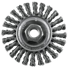 "4"" Twisted Industrial Wire Wheel  16836"
