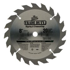 "8"" 20 TPI Trade Duty™ Series Carbide Tipped Circular Saw Blade"