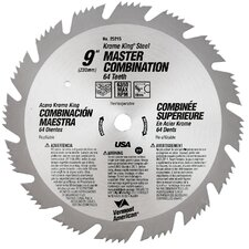 "<strong>Vermont American</strong> 9"" 64T Krome King® Master Combination Circular Saw Blade 25215"
