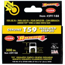 "1/4"" X 5/16"" Clear T59 Staples 591188"