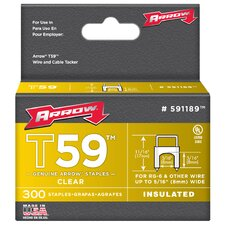 "5/16"" x 5/16"" Clear T59 Staples 591189"