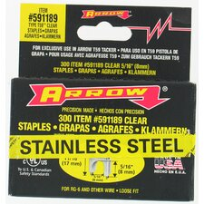 "5/16"" X 5/16"" Black T59 Stainless Steel Staples 591189SS"