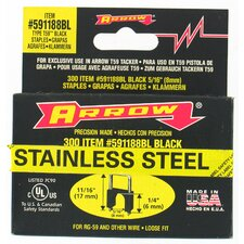 "1/4"" X 5/16"" Black T59 Stainless Steel Staples 591188BLSS"