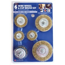 6 Piece Set Wire Wheel & Cup Brush 971531